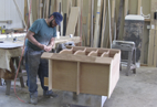 Cabinet Being Made